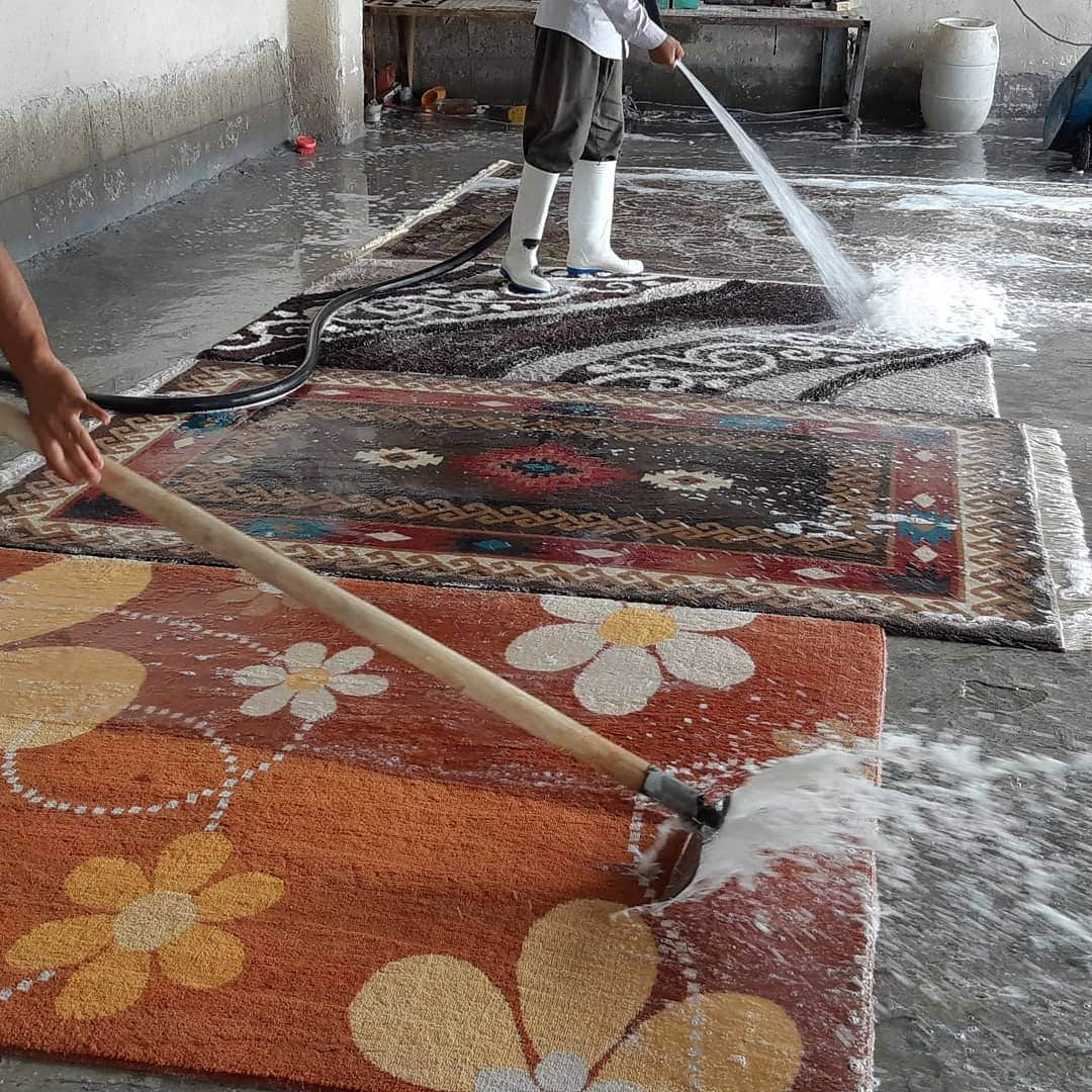قالیشویی آنلاین بنفشه ۱۰۰% تضمینی